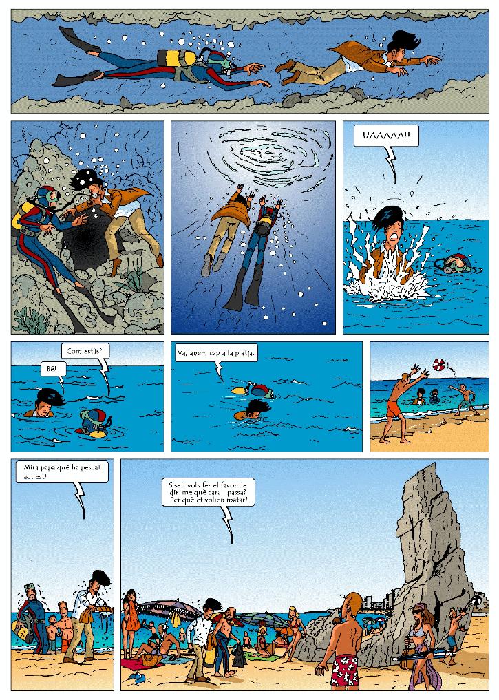Operació Icebergsiset, siset.cat, aventura gràfica, còmic